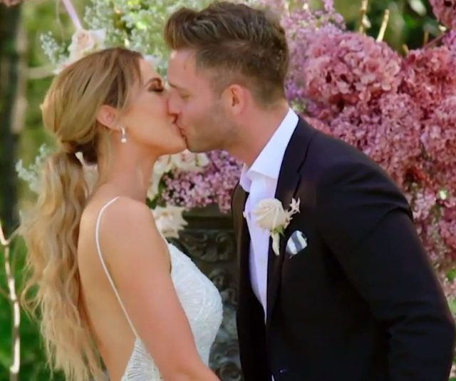 "**Jake & Beck** <br> We're sure we're not the only ones who were cringing through the entirety of Jake and Beck's wedding. <br> From the outset Beck was defensive and closed off to her new hubby. <br> ""I thought I'd see this really happy, amazing smile but I got more of a 'Ooh she's hot' kind of face,"" she said before stating that Jake was looking at her like she was ""sex on a stick."""