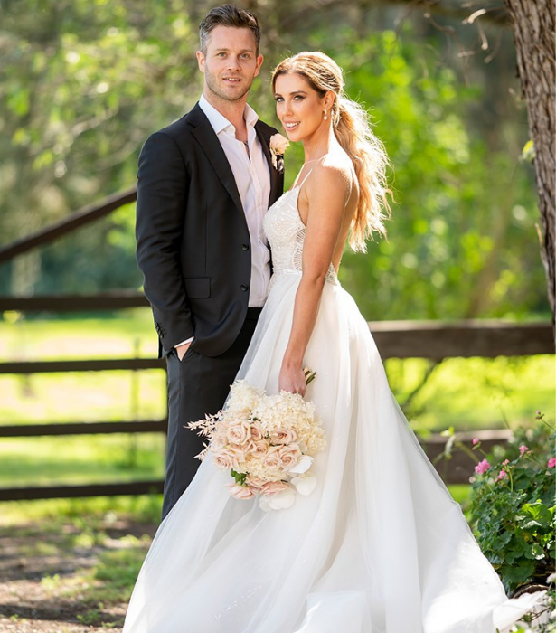"""**Jake & Beck – Not looking good** <br><br>  While Jake was immediately blown away by his blushing bride the same couldn't quite be said for Beck. <br><br>  As she head down the aisle, Bec was less than impressed with her groom Jake, claiming he was looking at her like she was a """"piece of meat."""" <br><br>  [Appearing on *Nova 96.9's Fitzy & Wippa*](https://www.newidea.com.au/married-at-first-sight-jake-edwards-rebecca-zemek-still-together