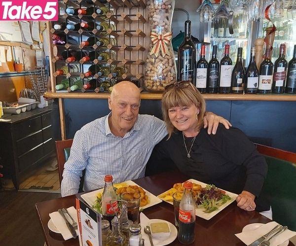 Murray's pop, Ken, and me