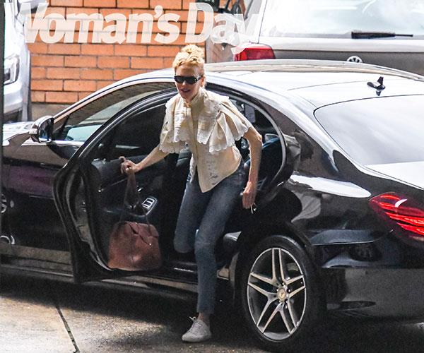 Nicole headed off to an appointment in Sydney.