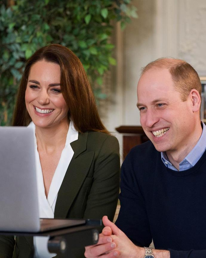 Kate and Wills joined in an uplifting video call with two women suffering long term health conditions.