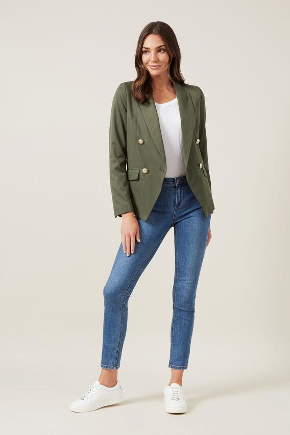 """French Connection Double Breasted Blazer, $79.5 (on sale). **[Buy it online here](https://www.frenchconnection.com.au/p/double-breasted-blazer/105071-866-06-fc.html