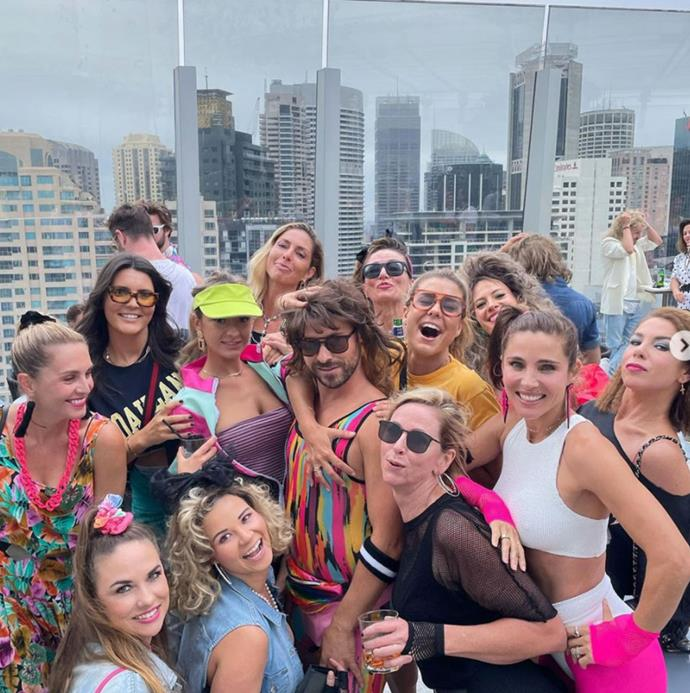 In good company! Kate and Elsa Pataky (far right) smile in a group photo from the A-list event.