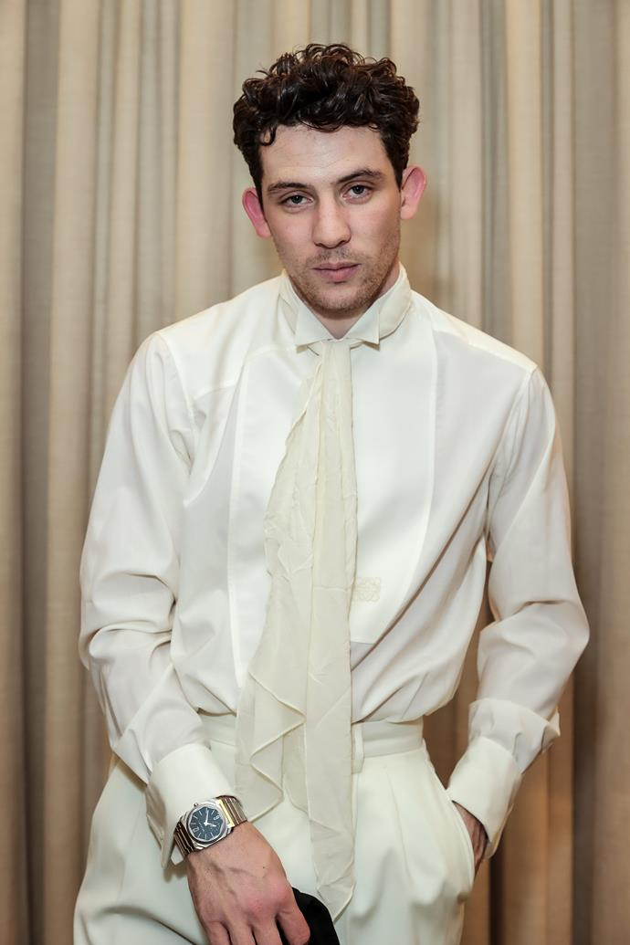 *The Crown*'s Josh O'Connor put his best broody face forward in this all-white get-up.