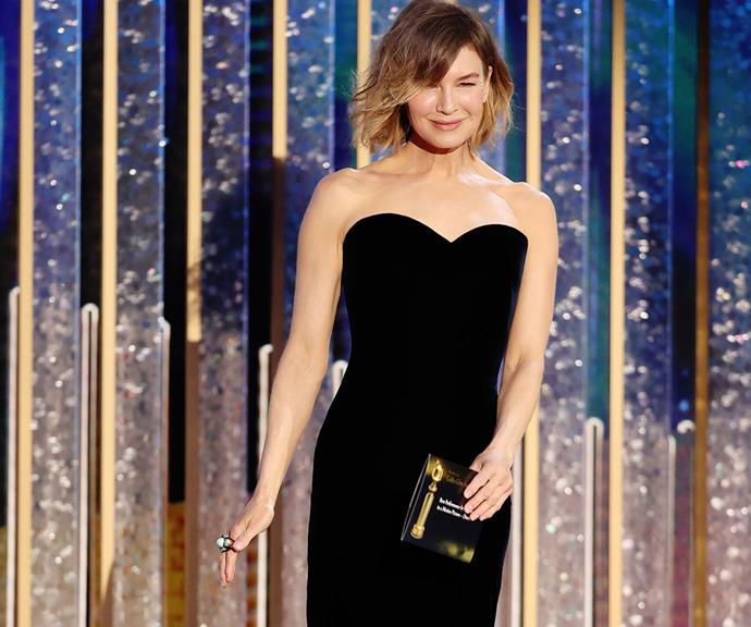 Renee cut a dazzling figure at the 2021 Golden Globe Awards.