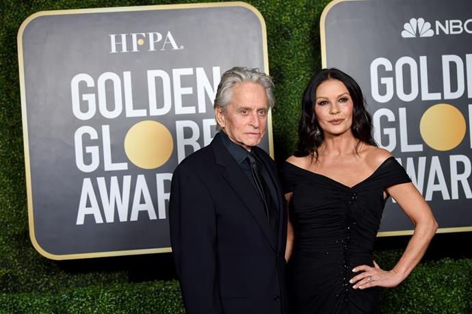 Catherine Zeta Jones and Michael Douglas were glamorous as per as they arrived at the smaller-scale event.