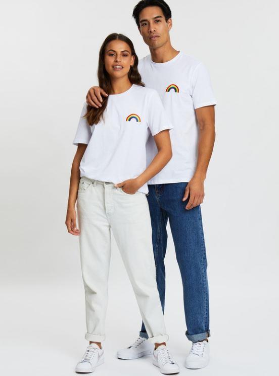 """Cool and casual is the name of the game in this simple but sweet rainbow pride tee from Staple Superior. $29.99, **[buy it online via The Iconic here](https://www.theiconic.com.au/rainbow-pride-tee-983786.html