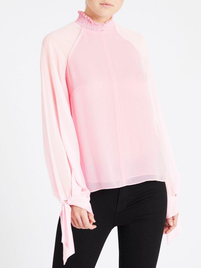 """Camilla and Marc Noelle Shirred Top, $140 (on sale). **[Buy it online via Order of Style here](https://www.orderofstyle.com/clothing/tops/camilla-and-marc-noelle-shirred-top-pink