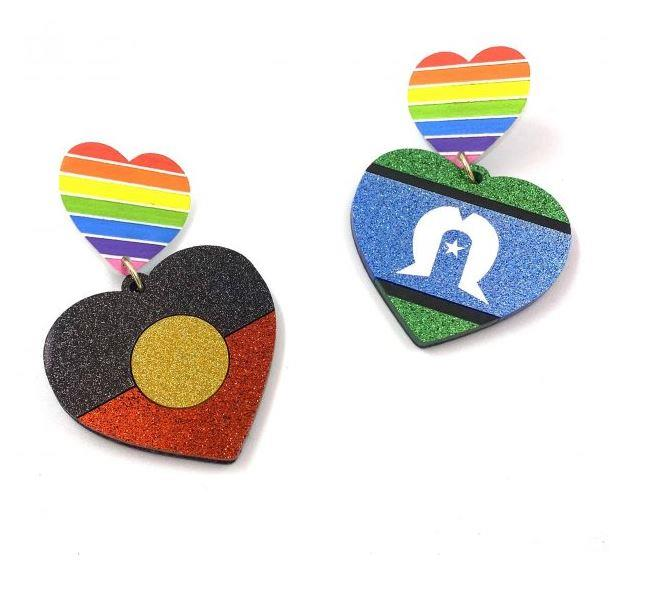 """Get your bling on with these gorgeous Haus of Dizzy Mob Pride Earrings, $49 – $59. **[Buy them online here](https://hausofdizzy.com/product/mob-pride-earrings/