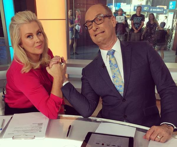 Co-host Kochie is sad to see Sam go.