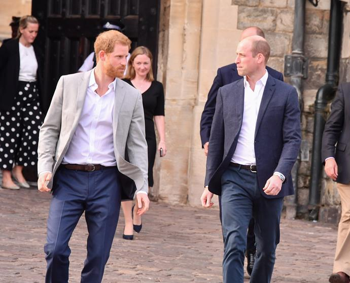 """Harry and William's relationship is """"still space"""" at the moment, according to Harry."""
