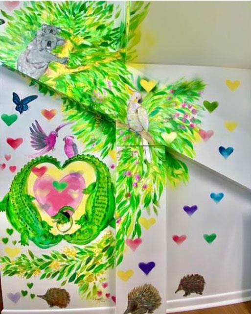 Bindi's talented aunt and artist Maryanne Oliver brought the creation to life.