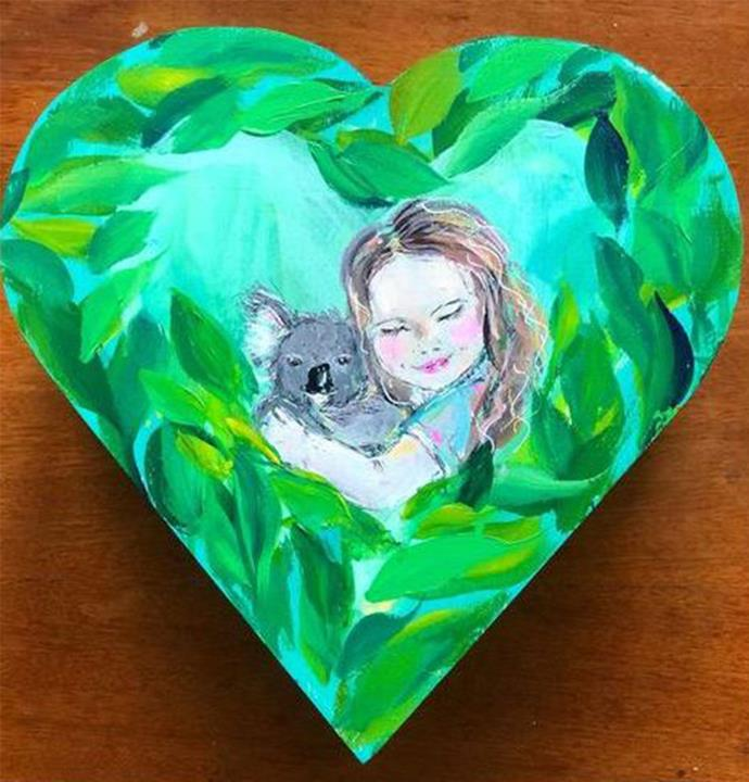 Maryanne also painted this jewellery box of Bindi as a little girl.