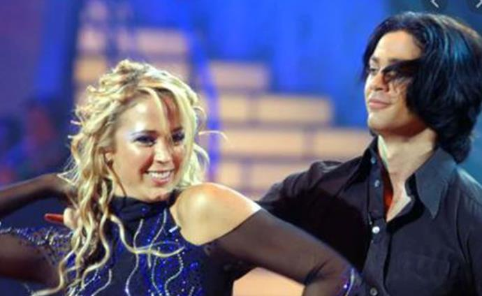 Blue eyeshadow, tight curls and a whole lot of sparkle - Bec's dance floor fashion was bang on trend for the time.