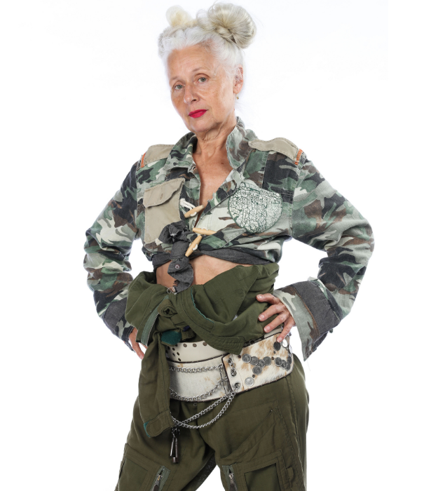"""**Sarah Jane** <br><br> The first *officially* confirmed housemate for 2021, Sarah Jane is also the oldest contestant to enter the show at 65-years-old. <br><br> The antique jewellery dealer is a fierce fashion icon and well known to many in the industry. <br><br>  """"I might be the oldest but I have an opportunity to prove to people that you can all put yourself outside of a comfort zone and fly,"""" she says. <br><br> """"It's going to be mad, it's going to be fun, it's going to be terrifying. Bring it on!"""""""