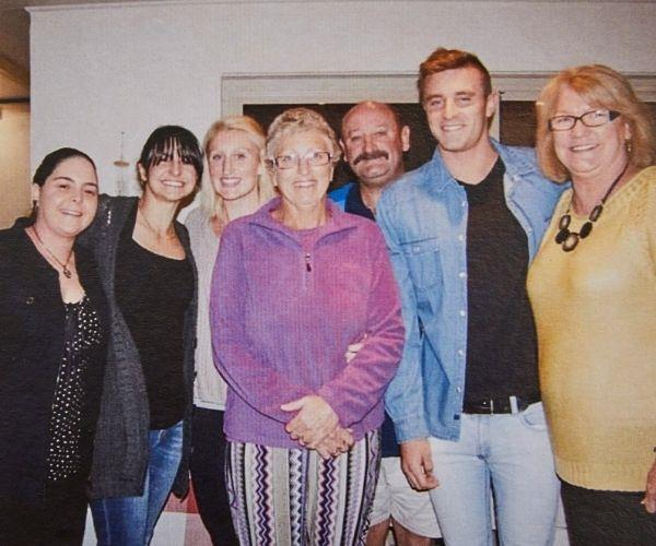 Me, Joanne and family at a celebration to mark surviving my heart attack.