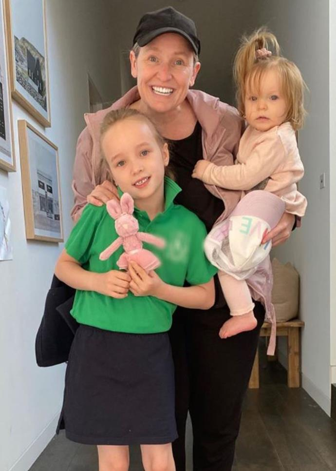 Fifi Box with her daughters.