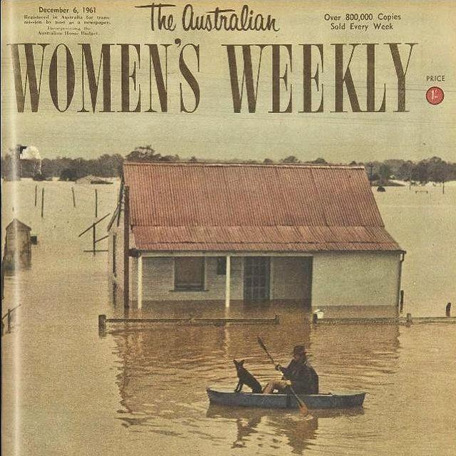 A 1961 cover of *The Australian Women's Weekly* captured devastating floods on the Nepean River.