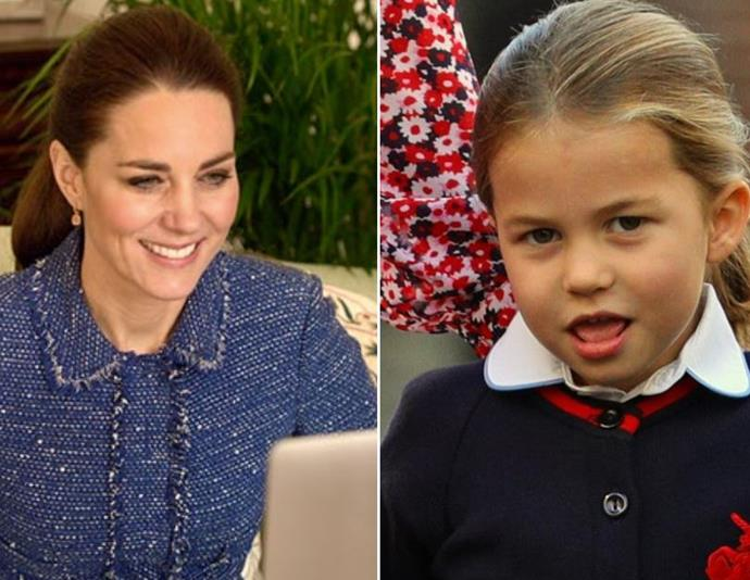 """An [adorable new video](https://www.nowtolove.com.au/royals/british-royal-family/kate-middleton-princess-charlotte-look-alike-66765