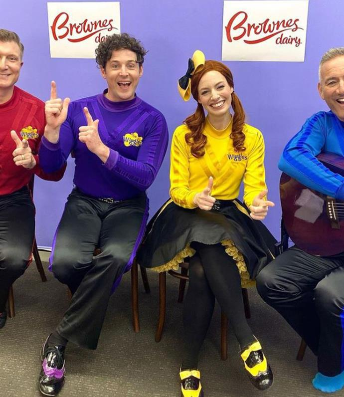 The Wiggles team are a tight knit bunch.