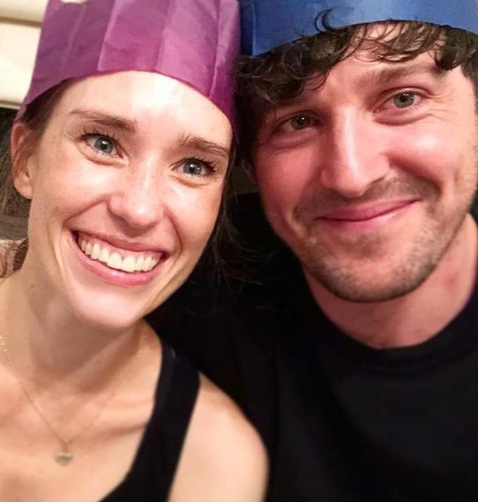 Lachy with his professional ballerina fiancee Dana Stephensen.