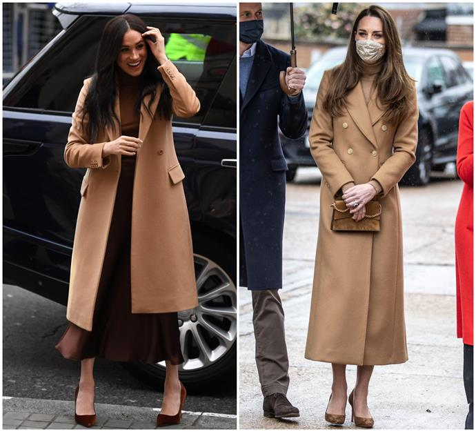 """In March 2021, Duchess Catherine stepped out in a [long camel coloured woollen coat](https://www.nowtolove.com.au/fashion/fashion-trends/brown-coat-australia-67111
