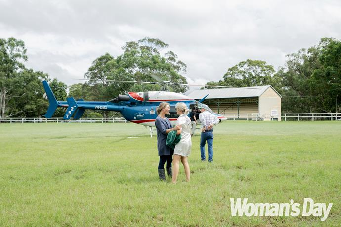 Kate managed to walk down the aisle thanks to a chopper rescue!