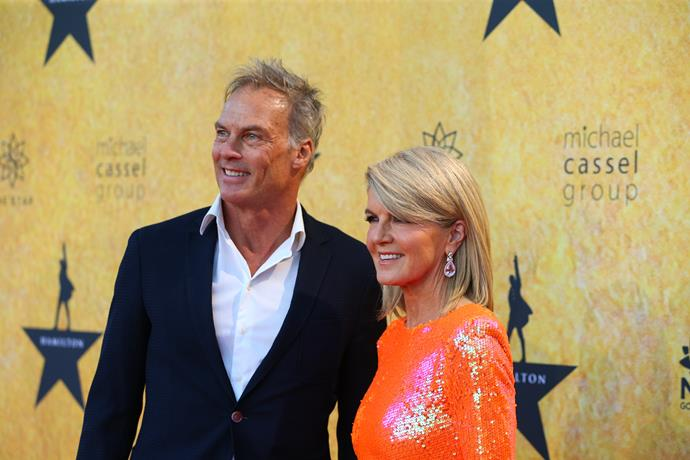 Julie attended with her partner David Panton for the opening night.