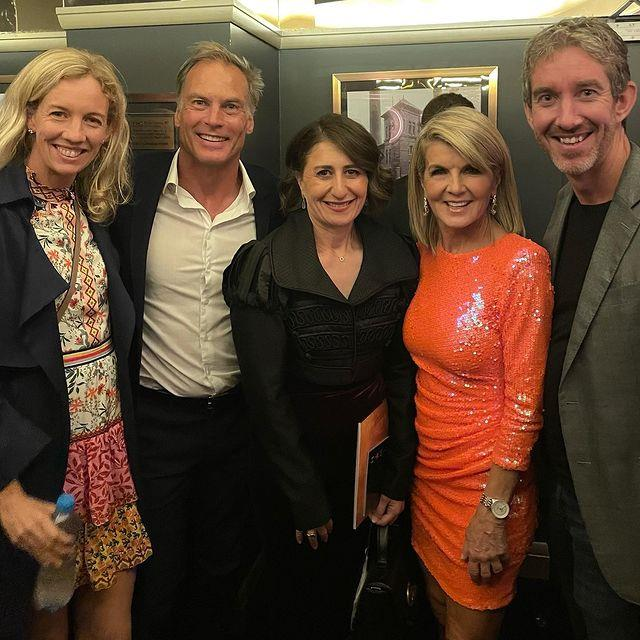 Julie joined New South Wales premiere Gladys Berejiklian in another snap from the evening.