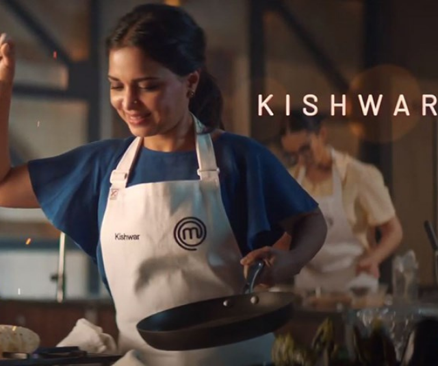 "**Kishwar**<br><br> Hailing from a big family of cooks, food has had a big part in Kishwar's life.<br><br> ""The Bengali cuisine that I carry with me has been passed down from generation to generation. I've always taken a little creative license with it,"" she admits in the trailer."