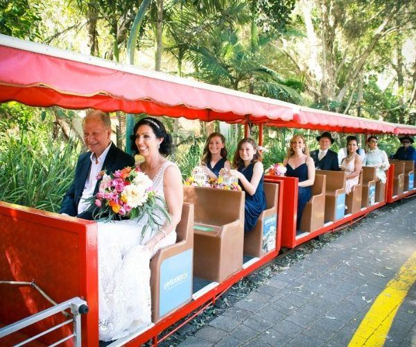 Currumbin Wildlife Sanctuary was the ideal place for our wedding.