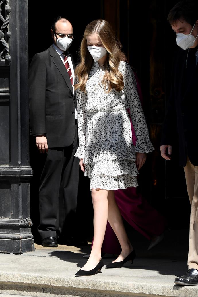 Princess Leonor recently marked an exciting milestone - aged just 15 years old, she stepped out for her fist ever public engagement. As the heir to the throne, the confident teen took the visit to the Cervantes Institute in her stride.