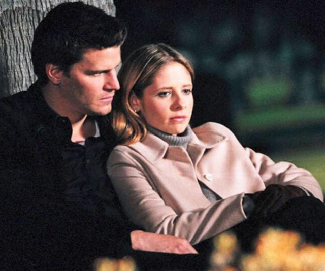 **Angel and Buffy – Buffy The Vampire Slayer **<br><br> Look, we'll be honest here, we're team Spike all the way. <br><br> Buffy and Angel, a vampire and vampire slayer, were *never* going to work out. <br><br> The star crossed lovers trope is, however, what made their romance such good TV and, in turn, such a devastating split. <br><br> Having to sacrifice your first true love is the kind of pain that stays with viewers, forever.