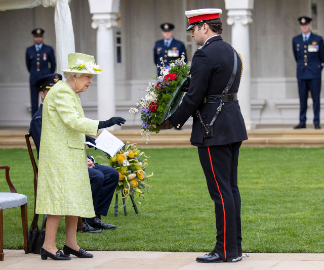 Her Majesty had a wreath laid on her behalf.