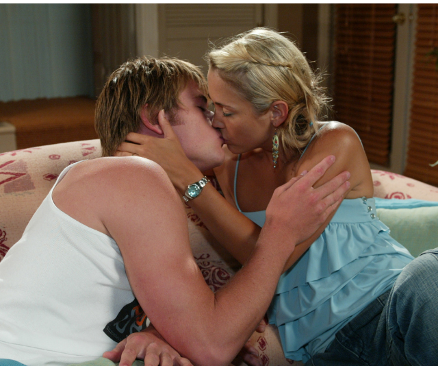 Hayley, played by Bec Hewitt nee Cartwright, was Kim's first love interest on the show – what a couple!