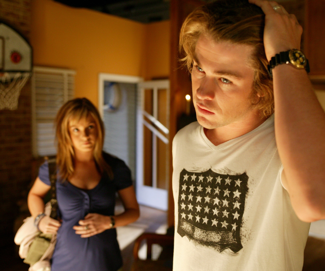 That awkwardness hit a whole new level when Kit came back to town pregnant with Kim's child – on the day of his wedding!
