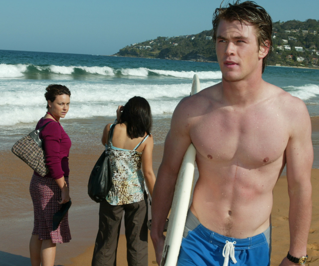 One of Kim's first big scenes in Summer Bay saw him save Noah from drowning after falling unconscious in the surf.