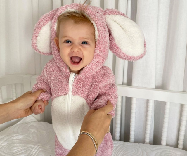 **Tim Robards & Anna Heinrich ** <br><br>  Elle's first Easter! This sweet snap of Tim and Anna's daughter has us melting faster than chocolate eggs left in the sun.