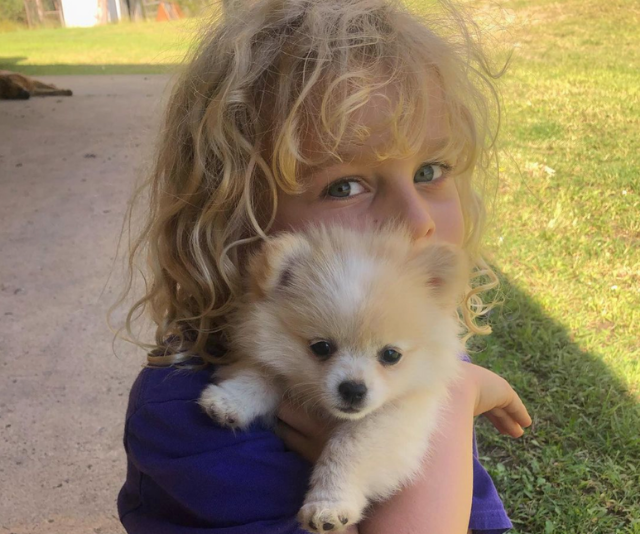 **River Jarvis** <br><br> Remember what we said about melting like chocolate? Times that by 10 thanks to these snaps from *Home And Away* cutie, River, with PUPPIES.