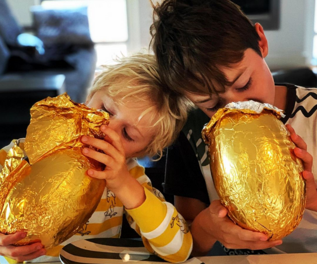 """**Rodger Corser** <br><br>  """"When footy and chocolate combine in perfect synergy #footyegg,"""" *Doctor Doctor* star Rodger shared. <br><br>  """"Hope you all had a B.O.G performance today!!! #happyeaster"""""""