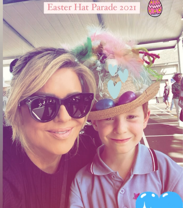 **Emily Symons** <br><br> The *Home And Away* favourite shared the sweetest shot of her son's Easter hat parade.