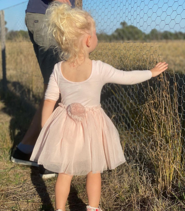 """**Carrie Bickmore** <br><br>  """"Spotted the Easter Bunny in the wild 🥰,"""" Carrie wrote alongside this gorgeous snap of youngest daughter, Adelaide."""
