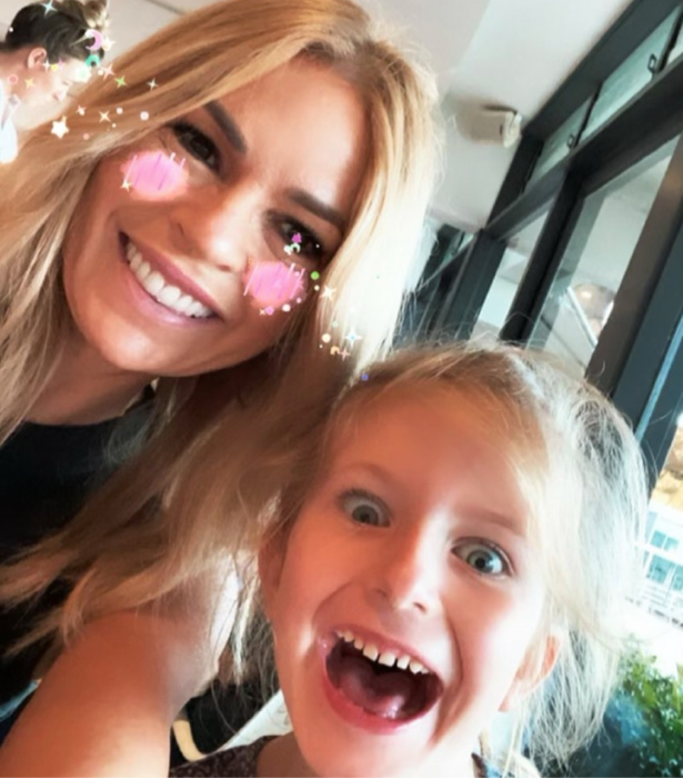 """**Sonia Kruger** <br><br>  """"Who's had too much sugar? 😆 Happy Easter Everyone! 🐣💕"""" the TV star hilariously captioned this pic alongside her daughter Maggie."""