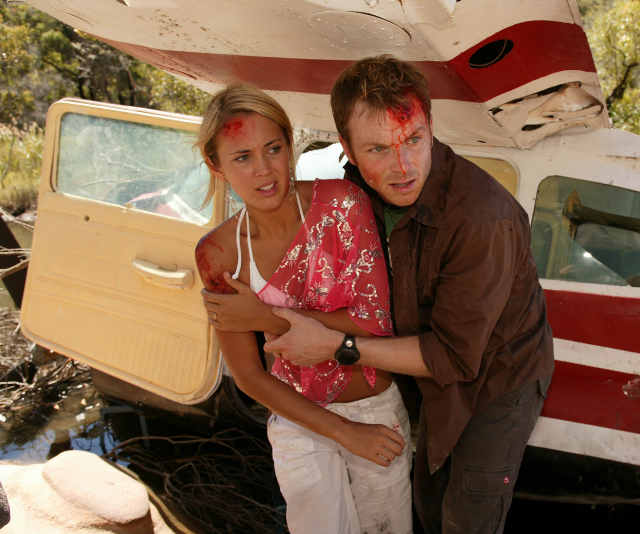 Bec's character Hayley had a number of extreme storylines, including a plane crash.