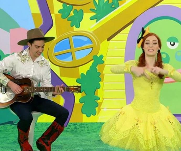 Emma's fiance Oliver Brian plays the guitar and banjo for The Wiggles.