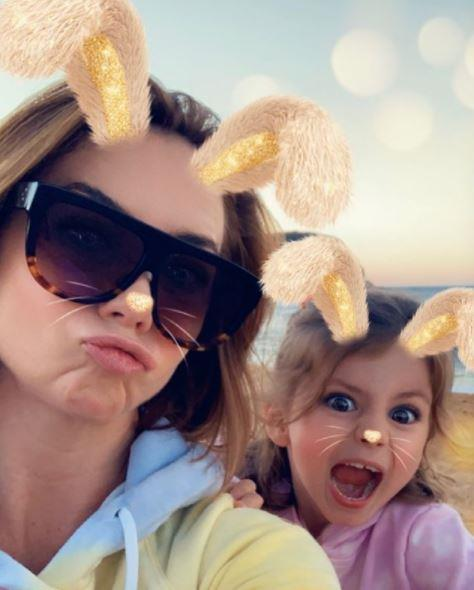 For Easter 2021, Kate and Mae spent some time at the beach - and had fun using the bunny filter for a quick selfie.