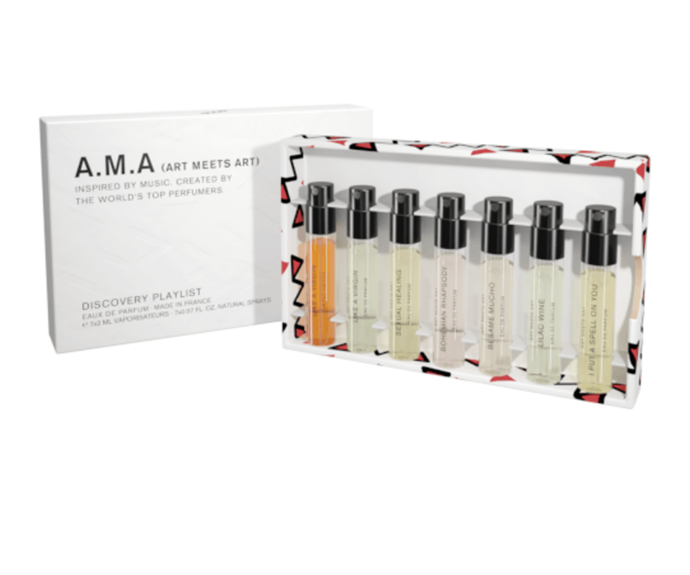 """These perfume minis are the perfect size and assortment to throw in each of her many handbags. <br><br> ***Art Meets Art Discovery Kit, $50 , [shop it here.](https://www.adorebeauty.com.au/art-meets-art/art-meets-art-discovery-kit-7x-2ml.html