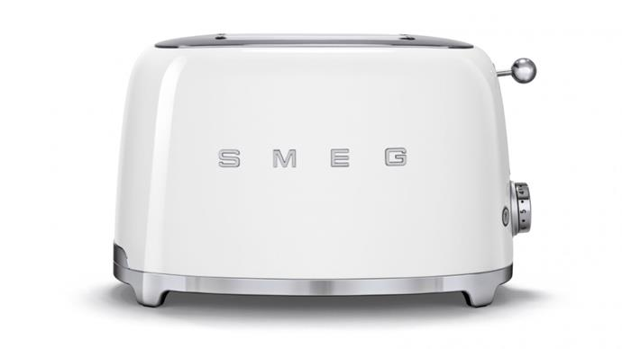 """Speaking of toast... there's no denying that retro-chic feel a Smeg product provides. This two slice toaster will keep the kitchen looking schmick, and the toast perfectly toasted for years to come. Just add Vegemite. $219, **[shop them online here](https://www.smeg.com.au/toasters/2-slice-toasters