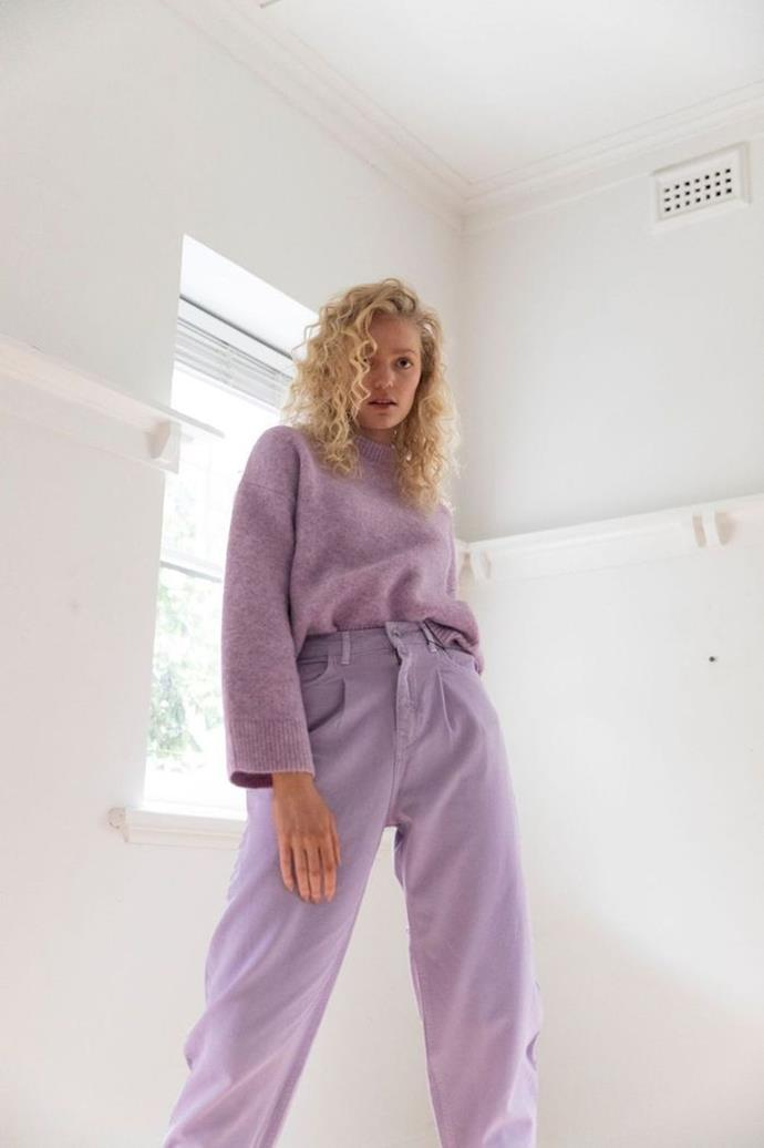 """Nothing says 'I love you' like a warm embrace - and the next best thing comes in the form of this dreamy soft knit from St Cloud Label - featuring a lilac pink colour, or also available in beige marle, this design is like wearing a cloud, and still looking fashionable. Worth every penny if you ask us. $329, **[buy it online here](https://stcloudlabel.com/collections/jumpers/products/cosy-crew-knit-lilac-marle