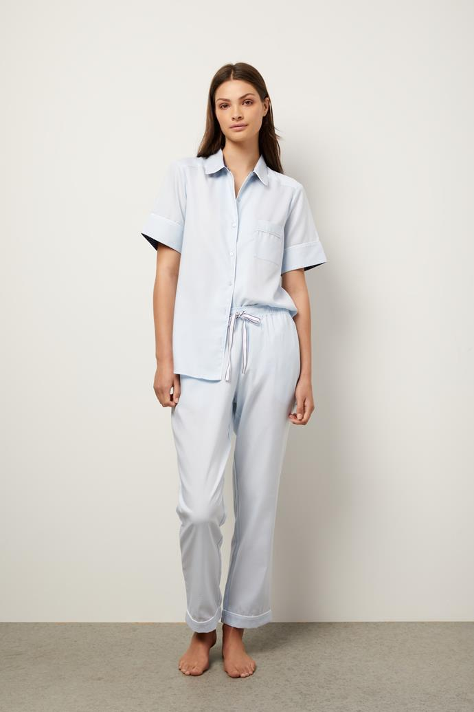 "Sleep, but make it chic. Wanderluxe Sleepwear have a range of soft cotton mix pyjamas that feel and look amazing. $184, **[buy them online here](https://wanderluxesleepwear.com/product/the-elizabeth-pyjama-set-short/|target=""_blank""|rel=""nofollow"")**"